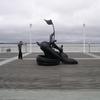 Statue sur les quais d'Arcachon