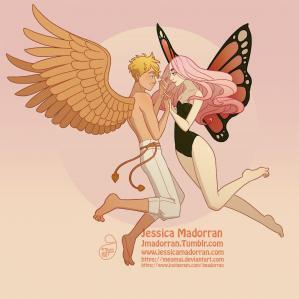 Jessica madorran character design cupid and psyche 2020 artstation