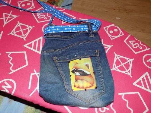Sac enfant en récup jeans