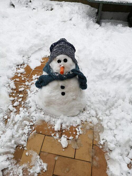 Raphaël dans la neige
