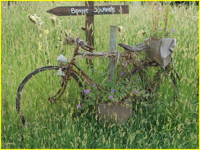 A bicyclette......