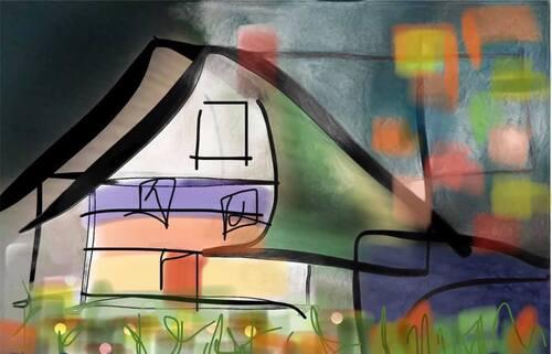 La maison de LuLu Berlu est particulière elle est entre deux temps et protégées par des vapeurs  d histoires. Chaque matin LuLu va piocher dans son jardin suspendu un carré d histoire, il le suce jusq