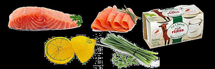 Rillettes aux deux saumons et yaourt de chèvre
