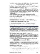 Conseil municipal du vendredi 12 avril 2013