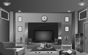 Black and white room escape