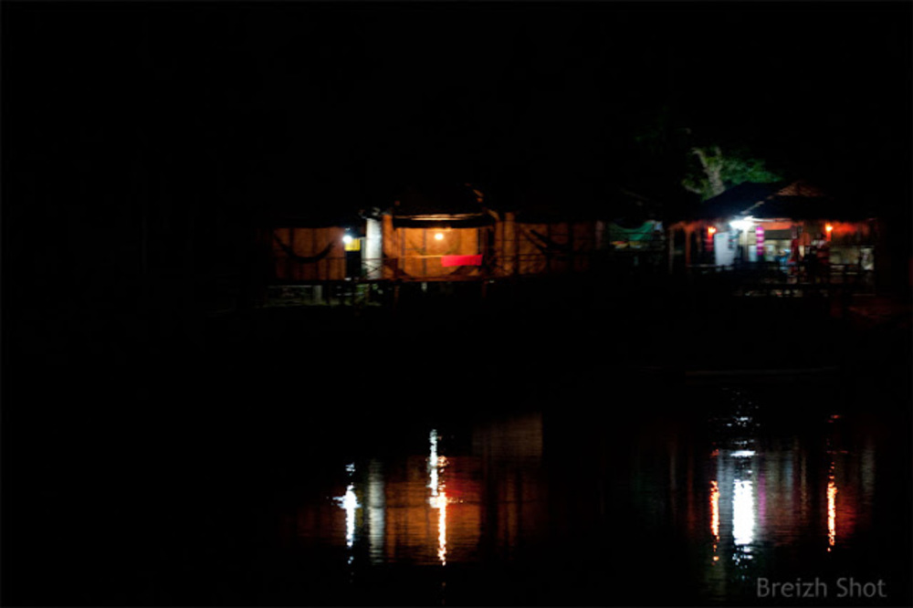 Kampong Cham : Reflets nocturnes