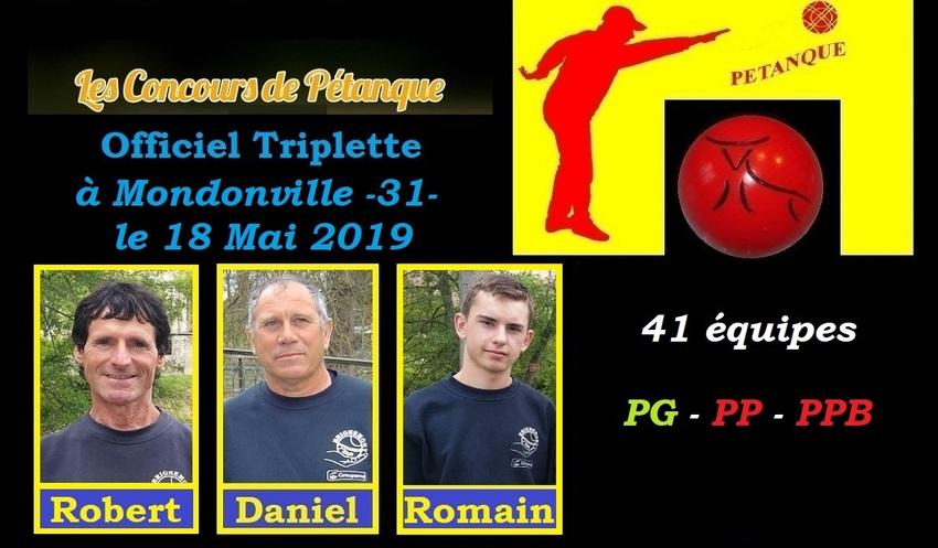 Officiel Triplette à Mondonville -31-
