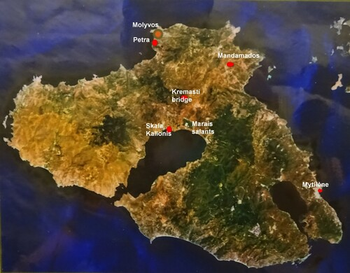 carte de Lesbos