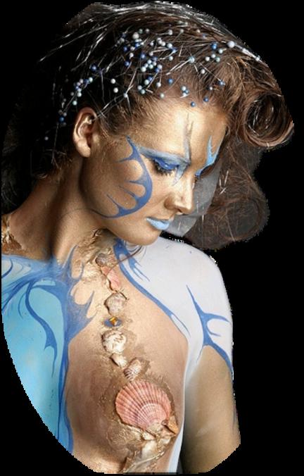 Femmes en bleue et bel encadrement de Maryse