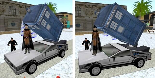 DeLorean et Tardis