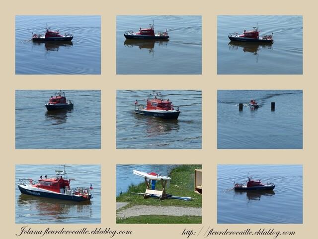 montage maquette bateau lac