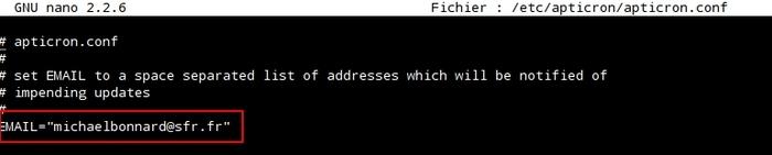 Notifications de mises à jour par e-mail avec apticron