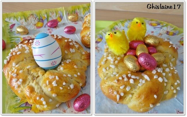 Nids briochés de Pâques