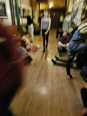 dance ballet class broadway dancers arriving ballet class