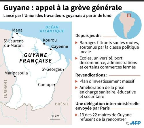 - Grève générale en Guyane