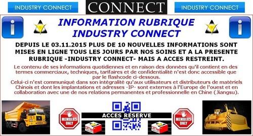 INDUSTRY CONNECT: informations en continu par QR-code restreint.