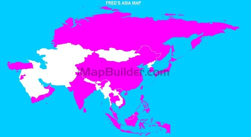 FRED'S ASIA MAP