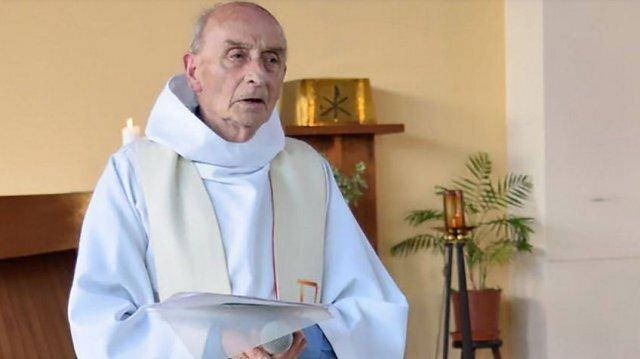 Le prêtre a été assassiné mardi 26 juillet au cours de l'office religieux à Saint-Etienne-du-Rouvray © AFP