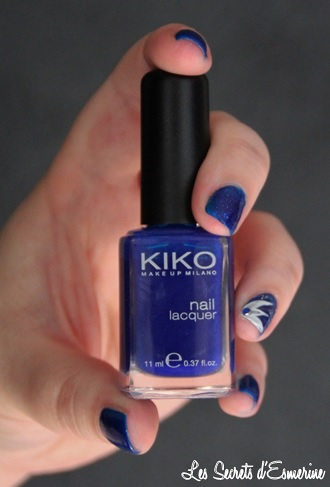 Like a Star Light... Ou le Kiko qui a fait Flop ! kiko, ink blue, nail art, les secrets d'esmerine