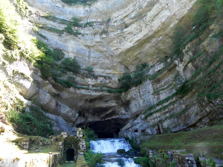 La source de La Loue dans le Doubs