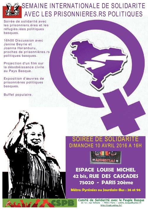 10 avril 2016 - Solidarité avec le peuple basque