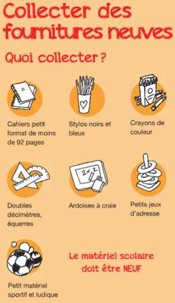 """Solidarité : """"un cahier, un crayon"""""""