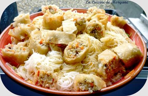 Bo Bun aux nems et crevettes