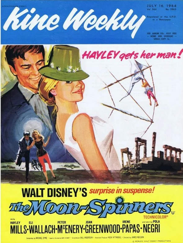THE MOON SPINNERS BOX OFFICE USA 1964