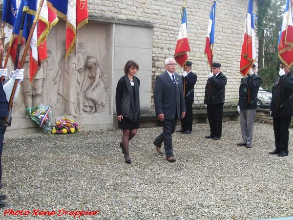 La commémoration de l'Armistice , en 2015, à Châtillon sur Seine