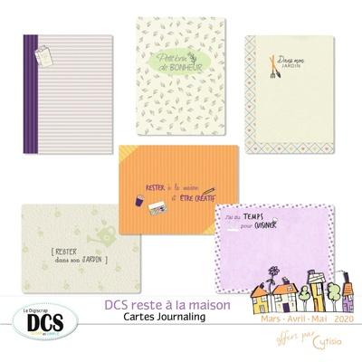 DCS reste à la maison- Cartes Journaling