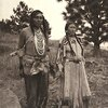 Native American couple. Photo by Joseph K. Dixon for the Wanamaker Expedition. 1908-1913