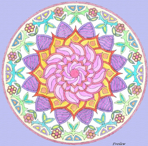 Quelques Mandalas, j'ai sorti les crayons de couleurs....