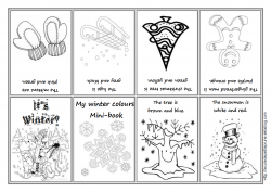 The seasons (coloriages - mini-books)