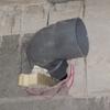 Pose évacuation en PVC diamètre 100 au sous sol (7)