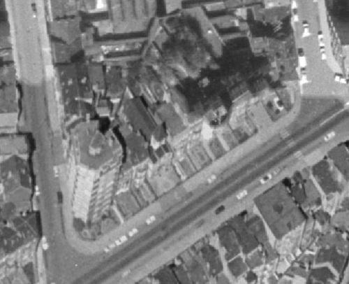 Temple Antoiniste Boulevard Guillaume Van Haelen 132, Forest, en 1971 (ici.be)