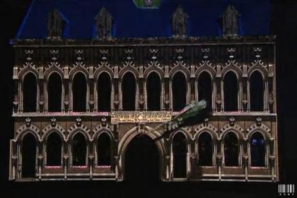 Spectacle sur la place de Mons, la légende des anges protecteurs