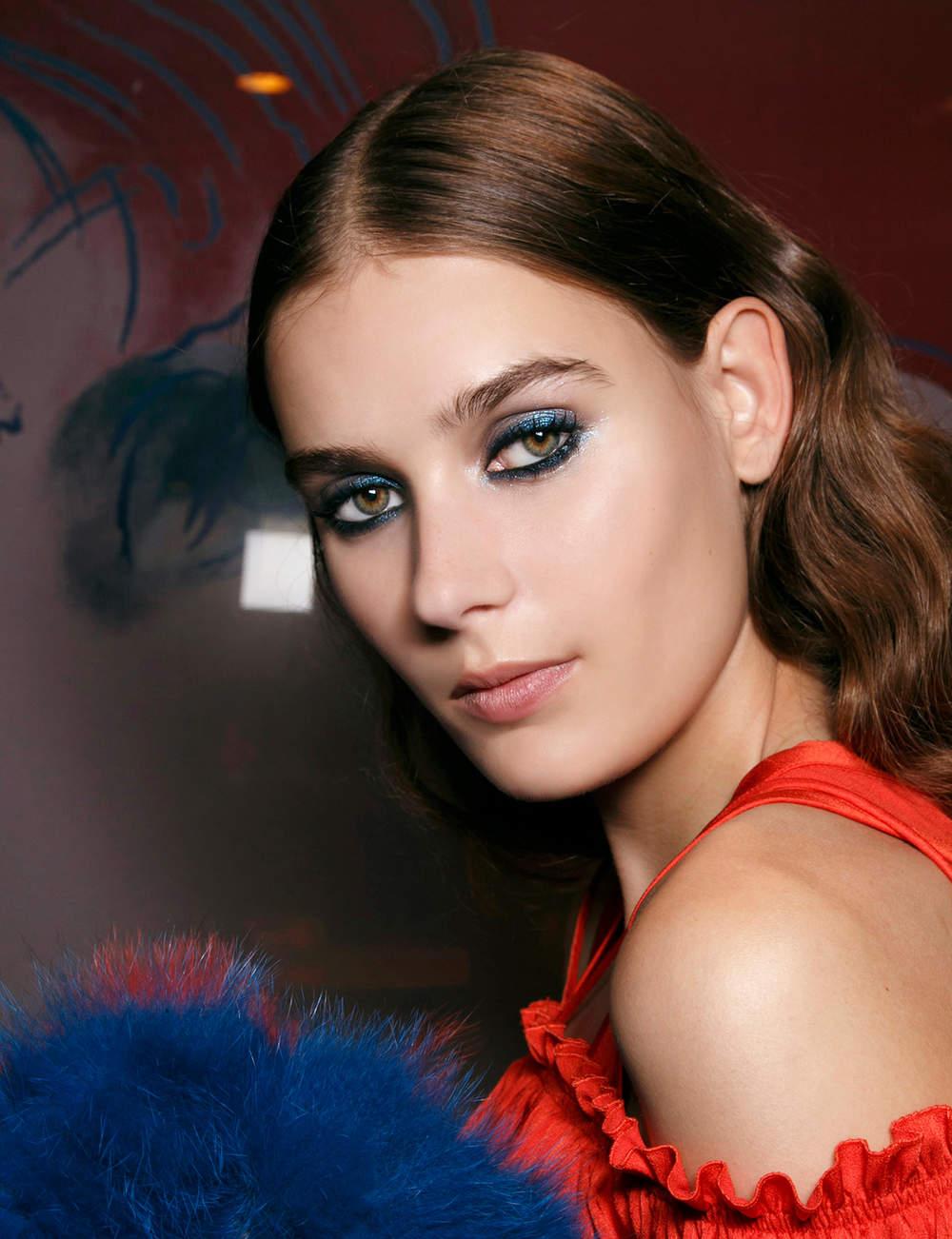 Le look bleu métallique de Sonia Rykiel