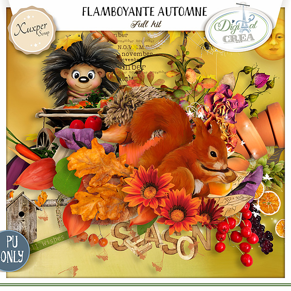 FLAMBOYANTE AUTOMNE by Xuxper Designs