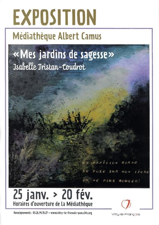 """Isabelle Tristan-Coudrot a exposé ses """"Jardins de sagesse"""" à Vitry le François"""