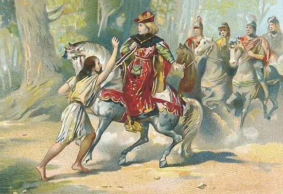 Charles VI effrayé dans la forêt du Mans en août 1392