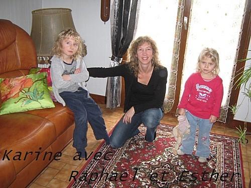 Karine et ses enfants