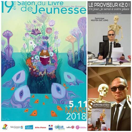 Séance de dédicaces le 10 mars 2018 : 19ème Salon du Livre Jeunesse Essonne