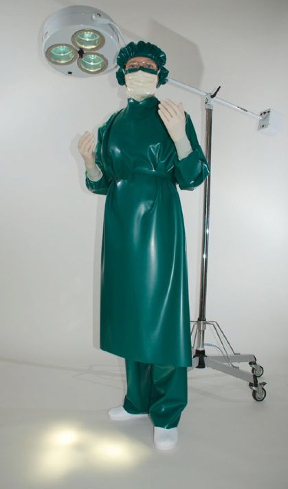 Uniforme de chirurgien en latex
