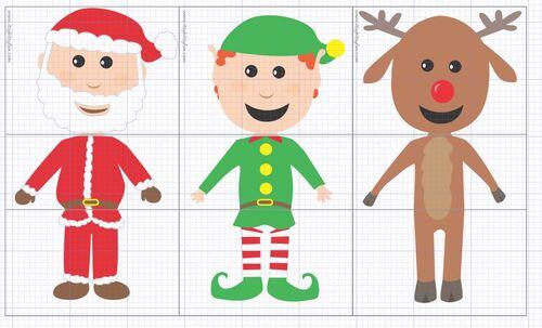 6 petits personnages de Noël