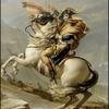 Bonaparte franchissant le col du Grand Saint-Bernard peinture de Jacques Louis DAVID (1748 - 1825)