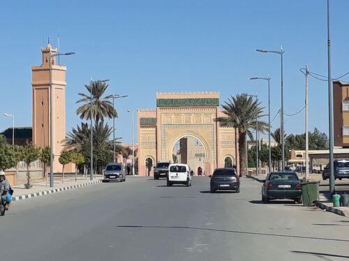 La porte à l'entrée de Rissani