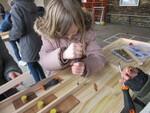 Animation fabrication d'un jeu traditionnel en bois