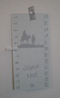 Calendrier de l'avent carte postale