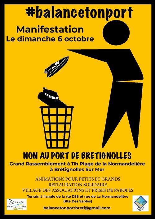 #BalanceTonPort : appel au rassemblement sur le site de la Normandelière à Brétignolles