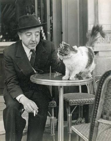 Jacques Prévert et ses chats